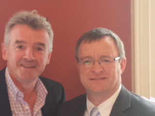 William with Michael O'Leary, CEO of Ryanair