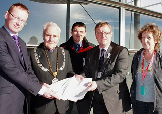 Tenby MIU Petition Handing with Russell George AM