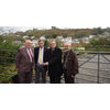 Fishguard old station site: Cllr Richard Davies (Mayor of Fishguard & Goodwick); Cllr Bob Kilmister; William Powell AM; and Cllr Richard Grosvenor.