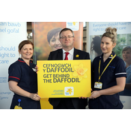 William at launch of Great Daffodil Appeal